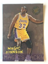 1996 Magic Johnson Topps Stadium Club #361 Magic's Back Los Angeles Lake... - $1.99