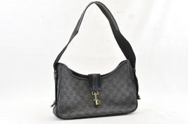 GUCCI Sherry Line GG Canvas Shoulder Bag Black Auth 4730 - $126.00