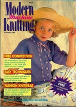 Modern Machine Knitting Nov 1988 Magazine Forties 1940s Styled Sweater &... - $5.69