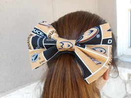 Anaheim Ducks Big Bow Girls Barrette - $8.00