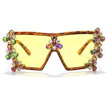 Oversized Colorful Diamond Sunglasses Women Luxury Fashion One Piece Square Sung image 7