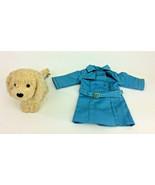 American Girl Blue Jacket Coat And Honey Plush Dog Pet Accessory - $20.31