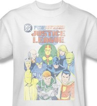 Justice League T-shirt super hero distressed white cotton tee DC comics JLA209 image 2