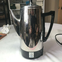 VINTAGE PRESTO STAINLESS STEEL 12 CUP COFFEE POT PERCOLATOR MAKER MODEL... - $14.95