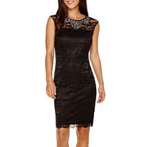 Scarlett Sleeveless Beaded Lace Sheath Dress New Size 6 Msrp $90.00 - $32.99