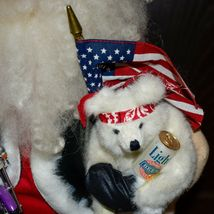 "Handcrafted ""Big Nick"" Biker Santa Claus Father Christmas Signed 24"" Cloth Doll image 7"