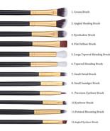 12-Piece Eye Makeup Brushes Professional Brush Set Shading Blending Eyes... - $13.60