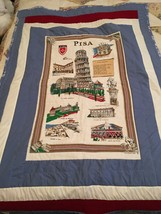 Handmade one of a kind lap quilt Featuring A Vintage Pic Of Pisa - $45.00