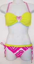 Raisins ~ Women's 2 Piece Bikini ~ Size Medium ~ Neon Pink & Green - $12.56