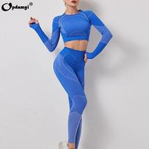 Women's 2 Piece  Sexy High Waist Leggings and Crop Tops Active Yoga Suit image 11