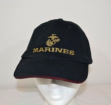 United States Marines Baseball Cap Blue Adjustable  USA Made - £16.05 GBP