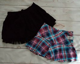 2 Gap Kids & CRB Girl Girls Skirts Size 10 Black Blue Pink Mini Ruffled - $9.99