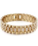 Gold Black Color Stainless Steel Bracelet Male 16MM Mens Watch Strap Bra... - $37.94