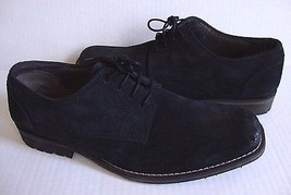 New Clarks Men Mettro Street Lace Up Oxford Suede Leather Shoes Black Si... - $95.82