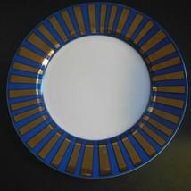Vtg Fitz Floyd Tutankhamun 1977 Blue Gold Rim Porcelain 7 1/2  Salad Plate - $24.68