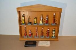 Danbury Mint Lot 12 Classic Replica Gas Pumps Wood Case COA Cards Wallet... - $98.99