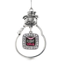Inspired Silver Flight Diva Classic Snowman Holiday Christmas Tree Ornament With - $14.69