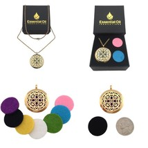 Jewelry Aromatherapy Diffuser Necklace Gold Plated Old World Cross Essen... - $36.93