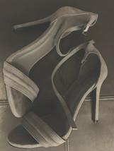 Qupid Gray Stiletto Suede Heels Ladies US Size 6 - $64.33