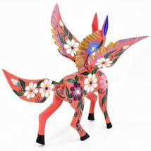 Handmade Alebrijes Oaxacan Wood Carving Painted Folk Art Pegasus Large Figure image 7