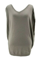 Gap Pure Women's Gray Taupe V-Neck Sleeveless Knit Top Size Medium - $14.85