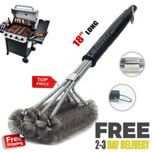 """18"""" BBQ Grill Brush Cleaner Stainless Steel Woven Wire Barbecue Cleaning... - $8.95"""