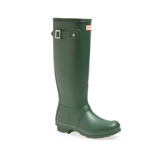 HUNTER Original Tall Waterproof Rain Boot, Green, Sz 6 (uk 4) - $98.00