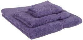 3-pc Purple Superior 600 GSM Long Staple Cotton Bath, Hand, Face Towel Set - $36.95