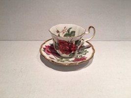 Adderly Fine English Bone China Cup and Saucer- Symphonie Red Rose - $8.00