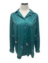 Vintage Sears the shirt women's blouse button front long sleeve size 38 - $18.36