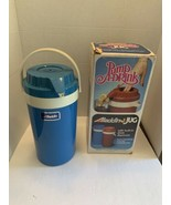 Vintage Aladdin Coventry Blue Pump-a-Drink Jug 1/2 Gallon  Camping Thermos  - $21.95