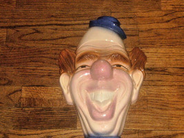 Unique  1972 Holland Mold Painted/Glazed Ceramic Clown Bust Wall Hanging - $29.69