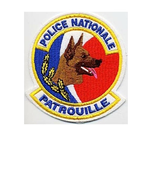 Le gendarmerie unite cynophile patrouille french national police k 9 patrol unit 4 x 3.5 in 9.99