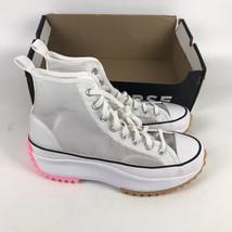 Converse Run Star Hike Hi Sneaker Womens Size 12.5 White Pink 167851C - $113.85