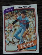 Gary Serum, Twins,  1980  #61 Topps Baseball Card - GDC CONDITION - $2.96
