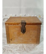 VINTAGE CLARITE HIGH SPEED COLUMBIA TOOL STEEL CO. WOODEN BOX - $7.99