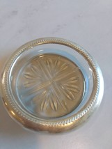 Silver Plated Rim and Crystal Glass Ashtray/Coaster each  - $59.99