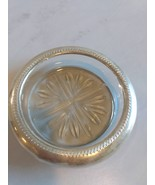 Silver Plated Rim and Imported Crystal Glass Ashtray, Coaster  - $99.99