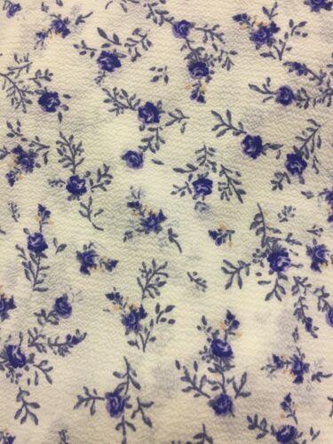 Forever 21 Volant Blumenmuster Krepp Maxi Lang Bodenlanges Kleid Weiß Blau S