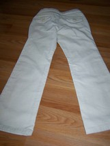 Girl's Size 7 Regular Gap Kids Boot Cut Stretch Corduroy Pants Off White Cream - $20.00