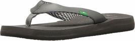 NEW Sanuk Women's Ebony Black Charcoal Yoga Mat Flip-Flop Beach Sandals Slippers
