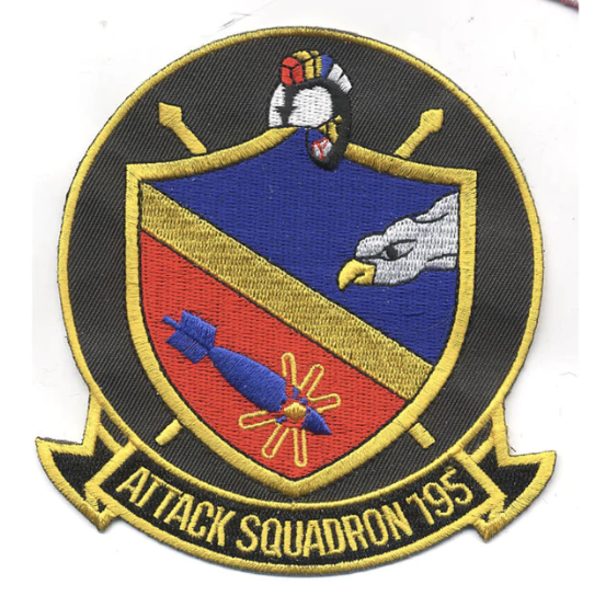"Primary image for 4.5"" NAVY VA-195 AVIATION ATTACK SQUADRON EMBROIDERED PATCH"