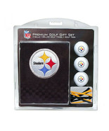 Pittsburgh Steelers  NFL Regulation Size Golf Balls Tees Embroidered Tow... - $31.68