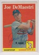 Joe DeMaestri Signed Autographed 1958 Topps Baseball Card - Kansas City A's - $19.99