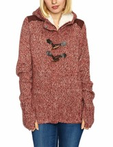 Bench Wolfster Red Knit Zip Up Sweater Hooded Jacket Hoodie