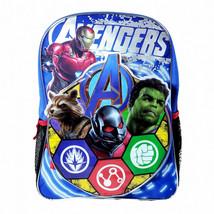 """Marvel Avengers Kids Backpack with Shaped Front Pocket - 16"""" Blue - $19.25"""