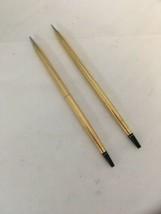 Cross 12k Gold Filled Desk Ball Point Pen & Pencil & Extra Pen Refill - $74.20