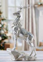 """16.5"""" Majestic Silver Reindeer Design Figurine"""