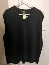 Eddie Bauer cotton cashmere sweater Mens size XL grey v-neck nwt - $65.29