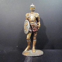 Veronese Miniature Cast Iron Statue Medieval Knight Painted - $17.95